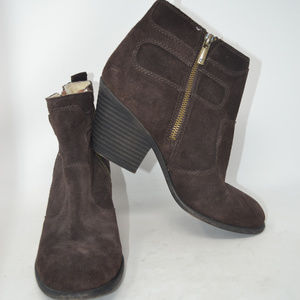 LUCKY BRAND Everalda Women Brown Suede Ankle Boots